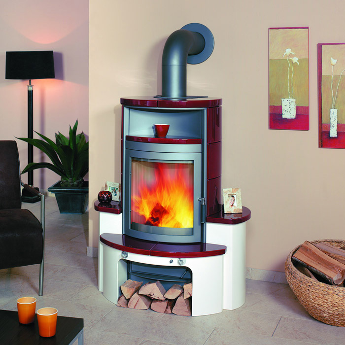 kaminofen avenso bordeaux rot von hark lagerware ebay. Black Bedroom Furniture Sets. Home Design Ideas