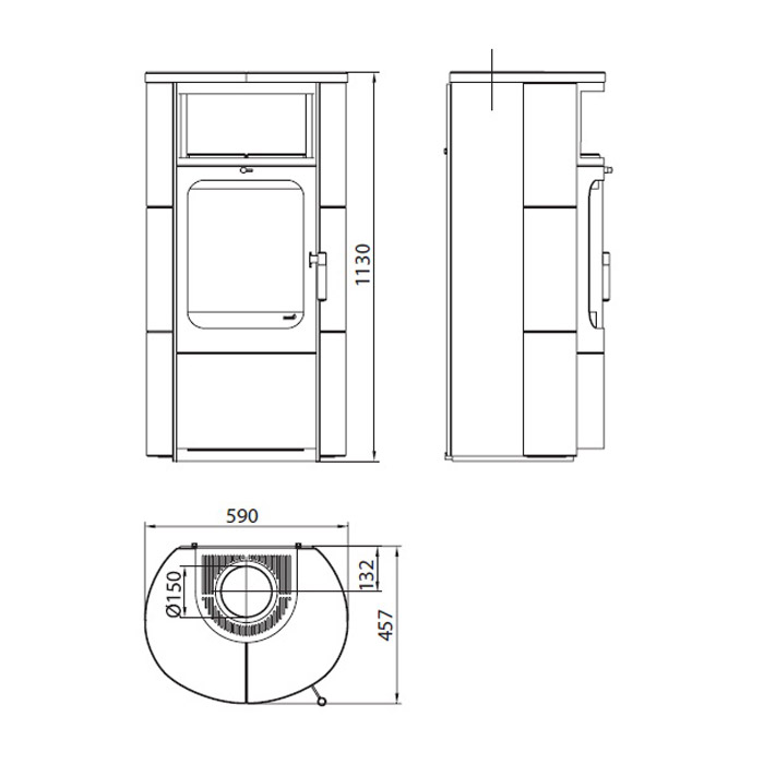 hark kaminofen barolo 5kw negro. Black Bedroom Furniture Sets. Home Design Ideas