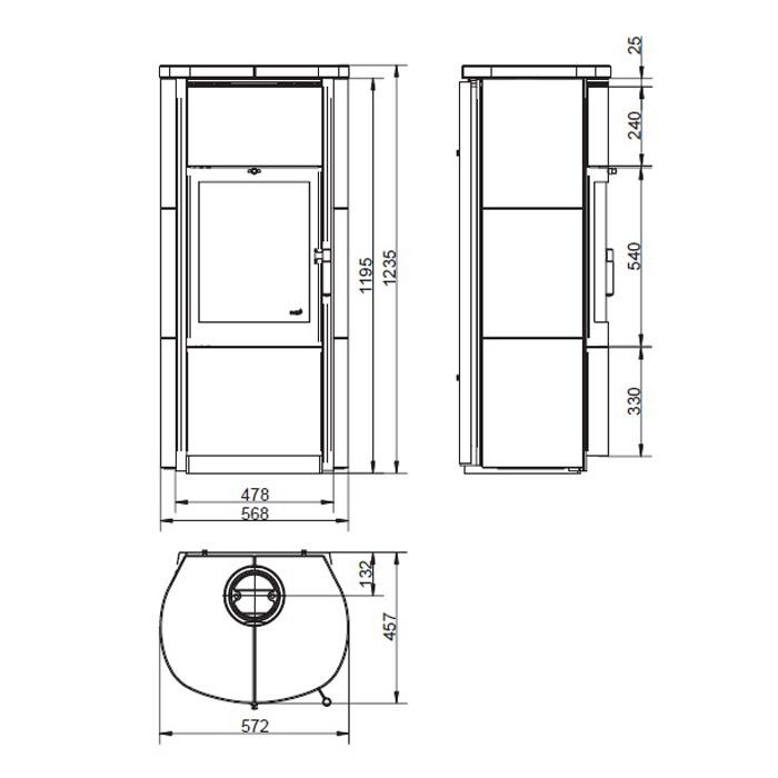 hark kaminofen keno ecoplus 7kw naturstein kamin fen. Black Bedroom Furniture Sets. Home Design Ideas