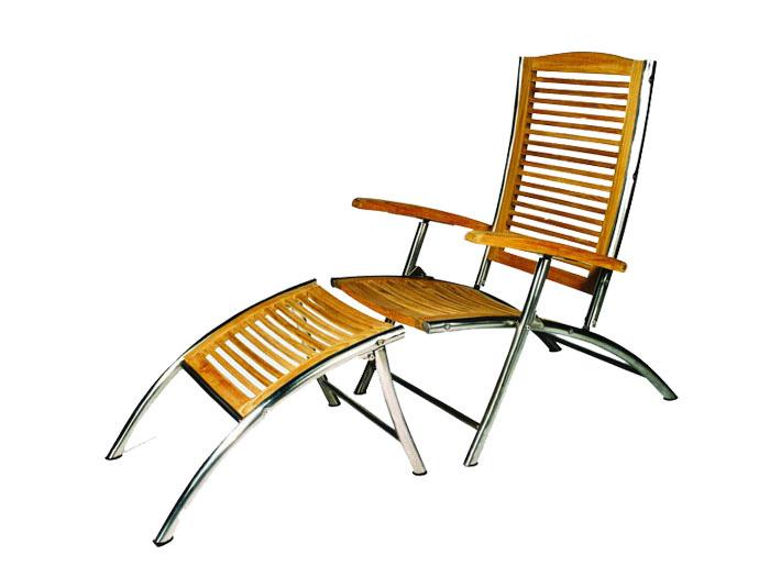 plo deckchair boston 1281050 teak holz sonnenliege gartenliege ebay. Black Bedroom Furniture Sets. Home Design Ideas