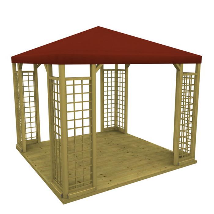 pavillon lindgren 4 eck paket 1 mit sommerdach. Black Bedroom Furniture Sets. Home Design Ideas