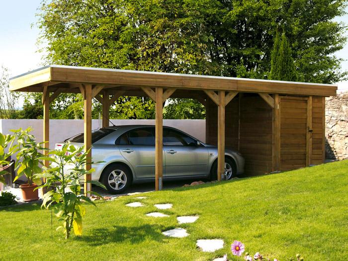 skanholz 115er profil flachdach carport friesland einzel carport pvc dach ca b 314 x t 555cm. Black Bedroom Furniture Sets. Home Design Ideas