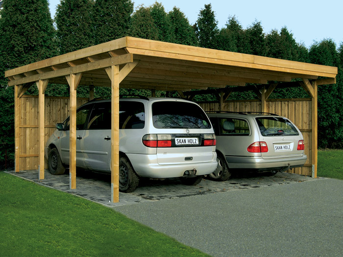 skanholz 90er flachdach carport lausitz ca b 554 x t 700cm carports. Black Bedroom Furniture Sets. Home Design Ideas