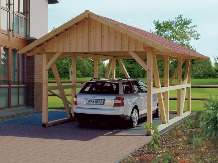 skanholz fachwerk carport schwarzwald mit dachschalung einzel carport mit abstellraum ca b 424. Black Bedroom Furniture Sets. Home Design Ideas