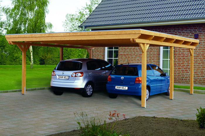 skanholz leimholz doppelcarport emsland flachdach epdm ca b 613 x t 604cm carports. Black Bedroom Furniture Sets. Home Design Ideas