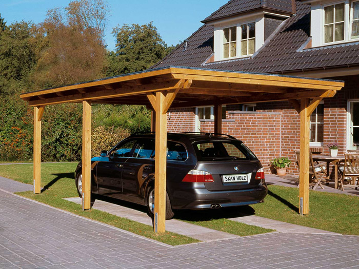 skanholz leimholz einzelcarport emsland flachdach epdm ca. Black Bedroom Furniture Sets. Home Design Ideas