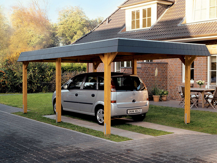 skanholz leimholz carport wendland einzel carport walmdach. Black Bedroom Furniture Sets. Home Design Ideas