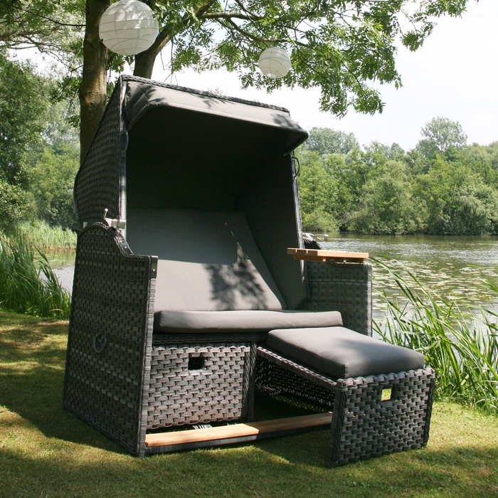 beach house strandkorb inkl abdeckung von 4 season ebay. Black Bedroom Furniture Sets. Home Design Ideas