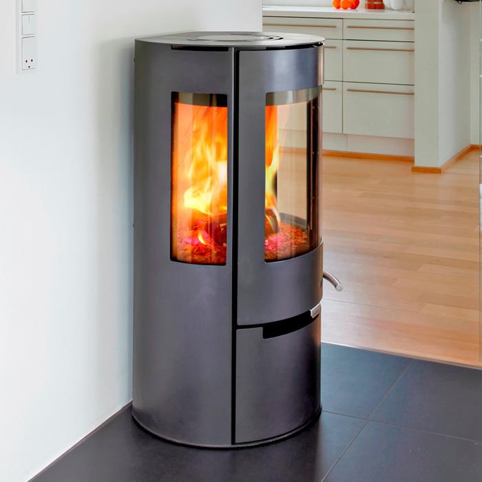 kaminofen aduro 9 schwarz mit seitenfenster lagerware lz ca 3 werktage ebay. Black Bedroom Furniture Sets. Home Design Ideas