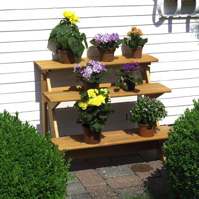 Gartendekoration blumentreppen for Gunstige gartendekoration
