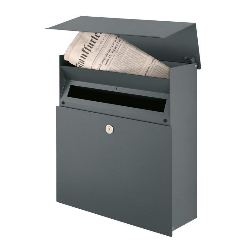 briefkasten anthrazit mit zeitungsfach mocavi box 111. Black Bedroom Furniture Sets. Home Design Ideas