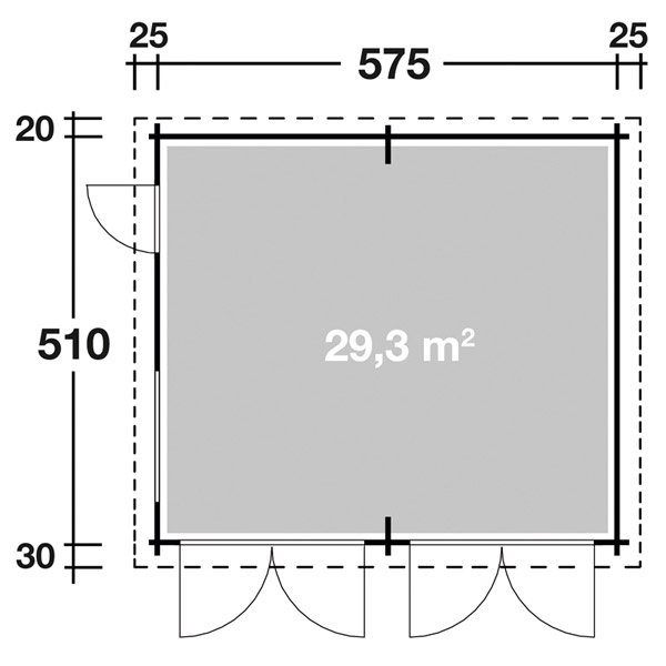 wolff doppelgarage 44 ohne tore gartenh user. Black Bedroom Furniture Sets. Home Design Ideas