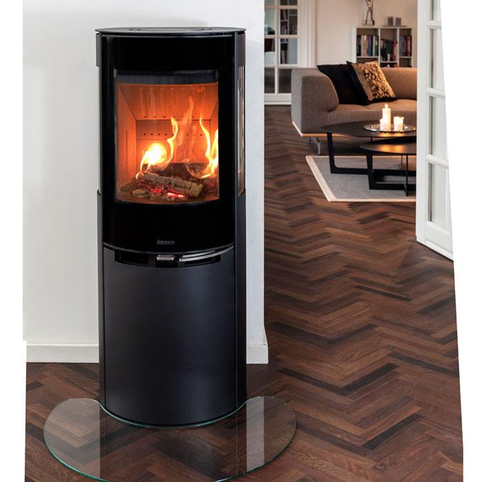 kaminofen 6kw aduro 9 5 lux mit aduro tronic stahl schwarz kamin fen. Black Bedroom Furniture Sets. Home Design Ideas