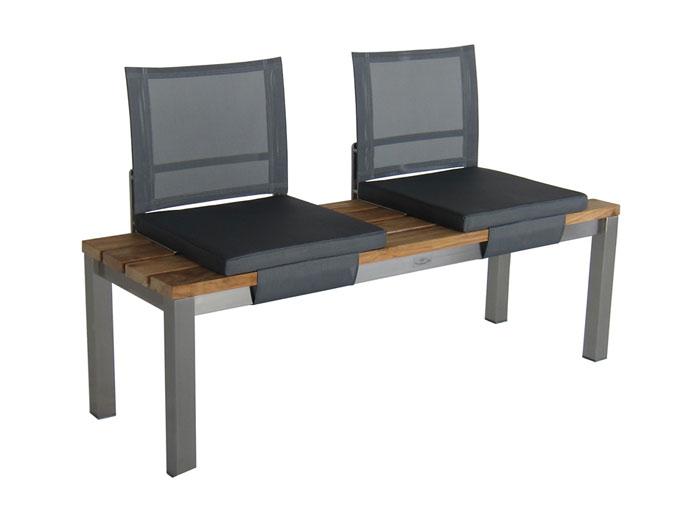 diamond garden sitzkissen venedig f r bank piero schwarz silber polster. Black Bedroom Furniture Sets. Home Design Ideas