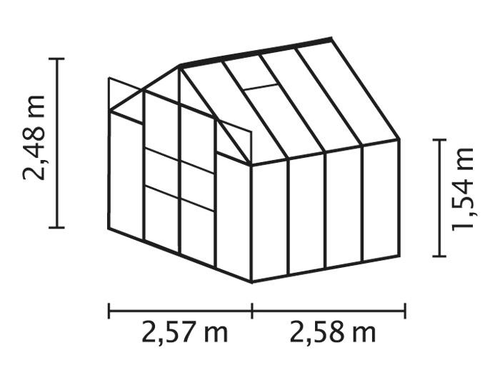 vitavia gew chshaus uranus 6700 alu gr n esg 3mm. Black Bedroom Furniture Sets. Home Design Ideas