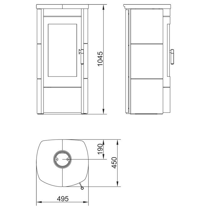 hark kaminofen tiamo meteor schwarz 6 0 kw kamin fen. Black Bedroom Furniture Sets. Home Design Ideas