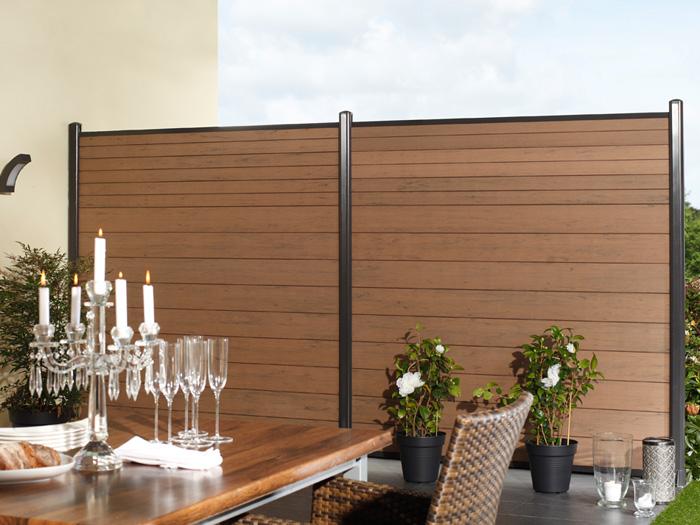 zaun traumgarten system wpc mandel. Black Bedroom Furniture Sets. Home Design Ideas