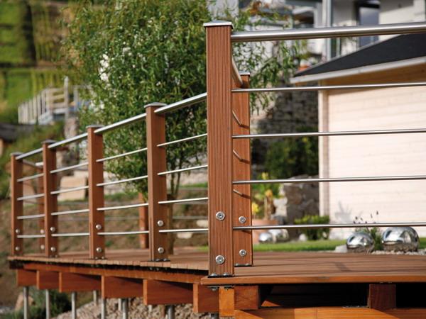 terrassengel nder tubo inox zaun. Black Bedroom Furniture Sets. Home Design Ideas