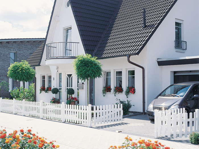vorgartenzaun cara gerade 1100 longlife 180x70 zaun. Black Bedroom Furniture Sets. Home Design Ideas
