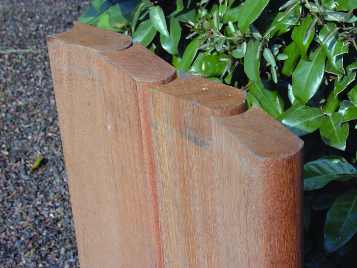 Holz Palisade Bangkirai Rollboard ~ MESEM  Jetzt einfach online bestellen!
