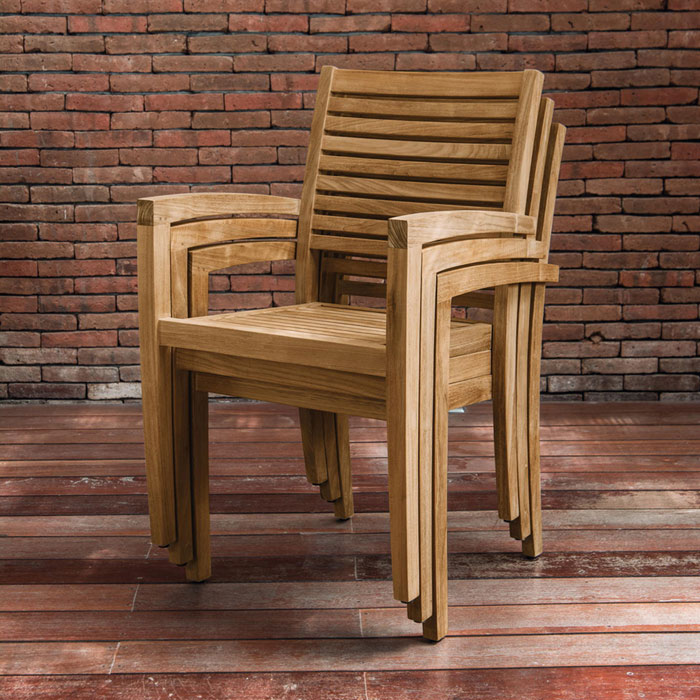 Gartenstühle holz  Villeroy + Boch Toscana Stapelstuhl | Gartenmöbel | MESEM.de