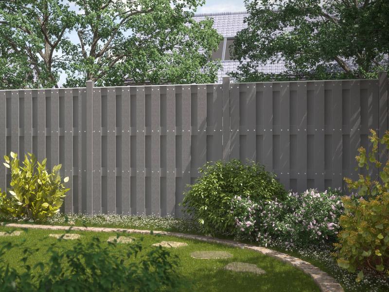 lamellenzaun kunststoff grau – godsriddle, Terrassen ideen