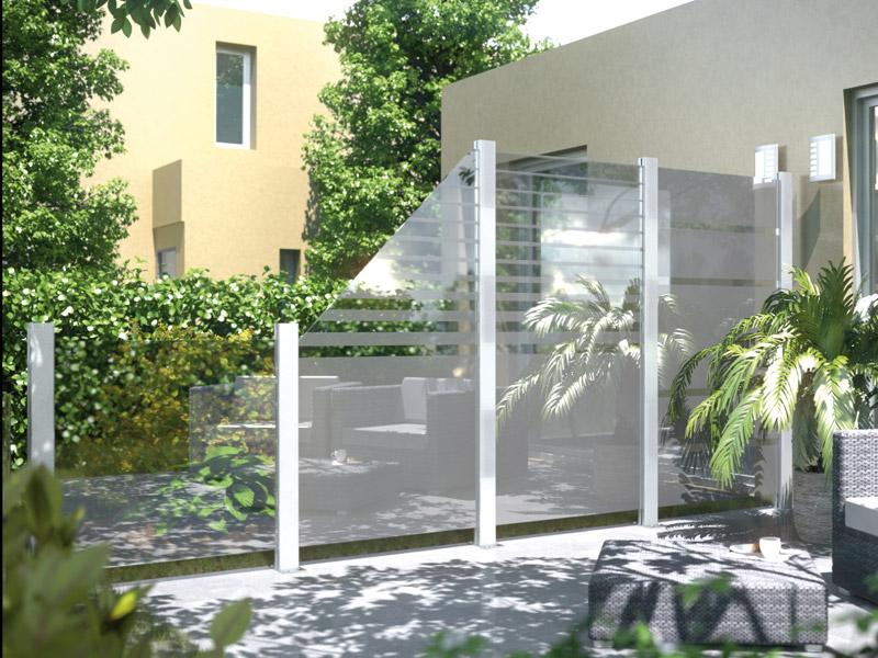 system glaselement beta 2327 links 180 90x90cm zaun. Black Bedroom Furniture Sets. Home Design Ideas
