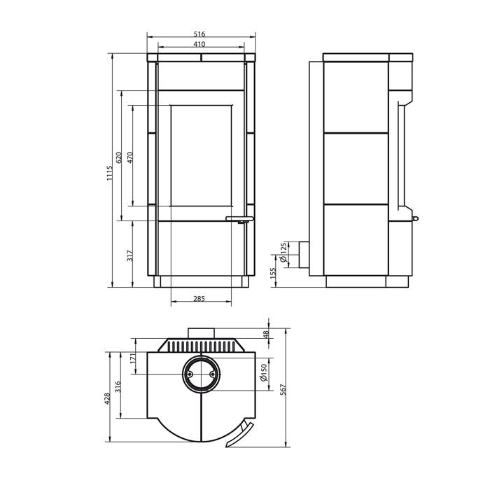 hark kaminofen domo 8kw kamin fen. Black Bedroom Furniture Sets. Home Design Ideas