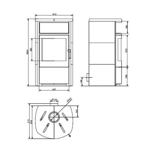 hark kaminofen taifun naturstein 6kw kamin fen. Black Bedroom Furniture Sets. Home Design Ideas