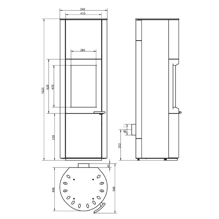 hark kaminofen zeno 8kw kamin fen. Black Bedroom Furniture Sets. Home Design Ideas