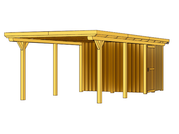 skanholz leimholz einzelcarport emsland flachdach alu ca. Black Bedroom Furniture Sets. Home Design Ideas
