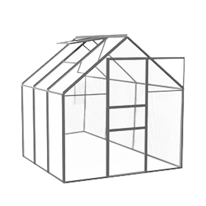 vitavia gew chshaus venus 3800 alu blank hkp 4mm gew chsh user. Black Bedroom Furniture Sets. Home Design Ideas