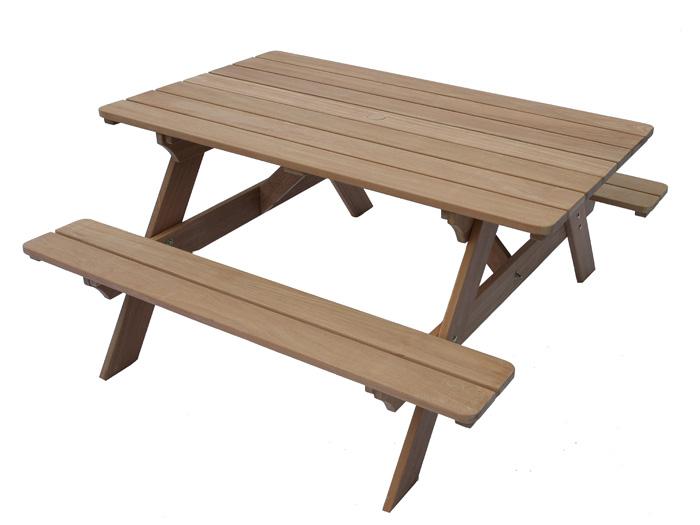 picknicktisch puncak 150 aus bangkirai bausatz ebay. Black Bedroom Furniture Sets. Home Design Ideas