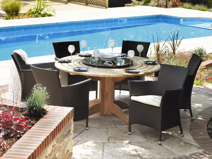 alexander rose granit lazy susan 60cm gartenm bel. Black Bedroom Furniture Sets. Home Design Ideas