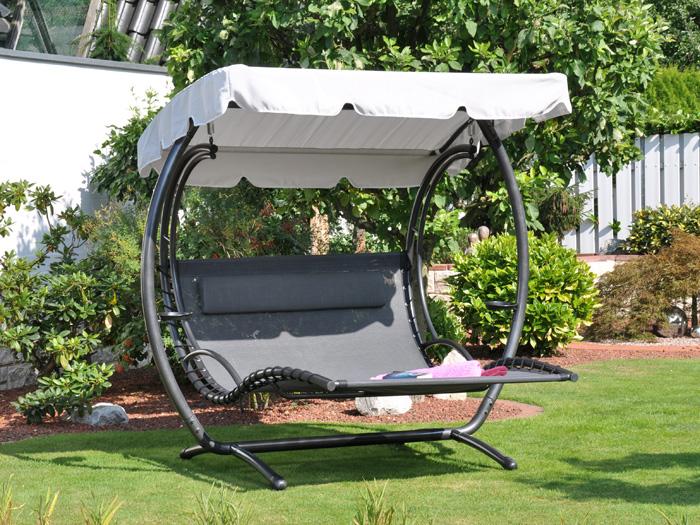 liege duo swing xxl von leco mit sonnendach bausatz ebay. Black Bedroom Furniture Sets. Home Design Ideas