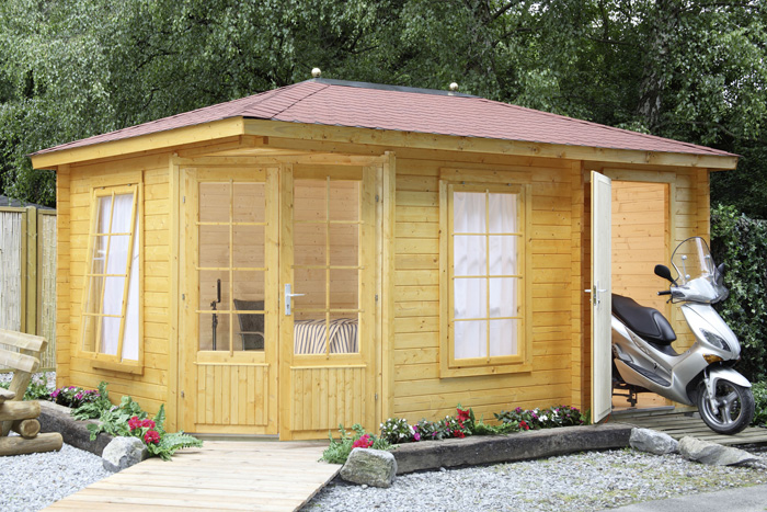 wolff blockhaus anna 40 a 2 raum gartenh user. Black Bedroom Furniture Sets. Home Design Ideas