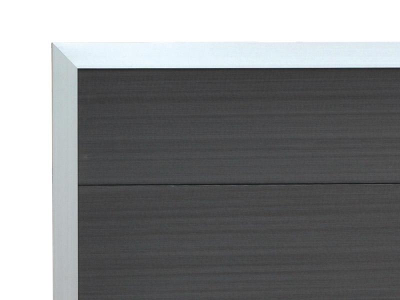 elephant forte anthrazit alu wpc 180x180cm zaun. Black Bedroom Furniture Sets. Home Design Ideas
