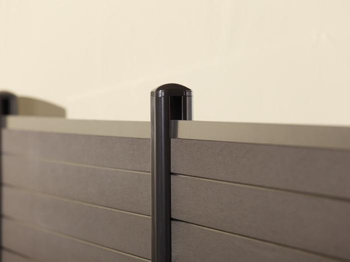 zaunanlage system wpc 7 zaun. Black Bedroom Furniture Sets. Home Design Ideas