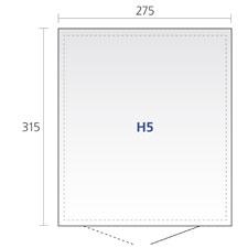 biohort highline h5 dunkelgrau metallic gartenh user. Black Bedroom Furniture Sets. Home Design Ideas