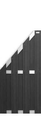 elephant design sichtschutz wpc anthrazit 180x180cm zaun. Black Bedroom Furniture Sets. Home Design Ideas