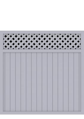 sichtschutzzaun riva grau 1821 longlife 180x180 mit gitter zaun. Black Bedroom Furniture Sets. Home Design Ideas