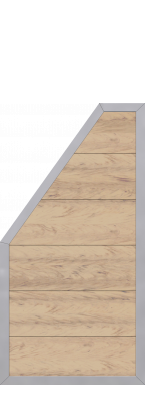 3 94m zaun design wpc alu sand me32977 zaun. Black Bedroom Furniture Sets. Home Design Ideas