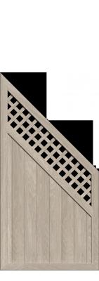 sichtschutzzaun riva polareiche 2447 longlife 180x180 zaun. Black Bedroom Furniture Sets. Home Design Ideas