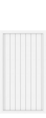 sichtschutzzaun riva wei 1867 longlife h 180cm sonderbreite 91 179cm zaun. Black Bedroom Furniture Sets. Home Design Ideas