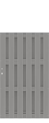 einzeltor jumbo wpc grau 98x179cm zaun. Black Bedroom Furniture Sets. Home Design Ideas
