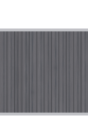 system wpc platinum zaunfeld set braun 2614 178x183cm zaun. Black Bedroom Furniture Sets. Home Design Ideas