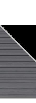 system wpc platinum zaunfeld set grau 2826 184 94x89cm zaun. Black Bedroom Furniture Sets. Home Design Ideas