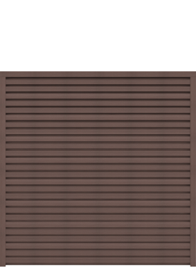 grojasombra wpc zaunfeld set sh braun 180x180 schallhemmend tropical brown zaun. Black Bedroom Furniture Sets. Home Design Ideas