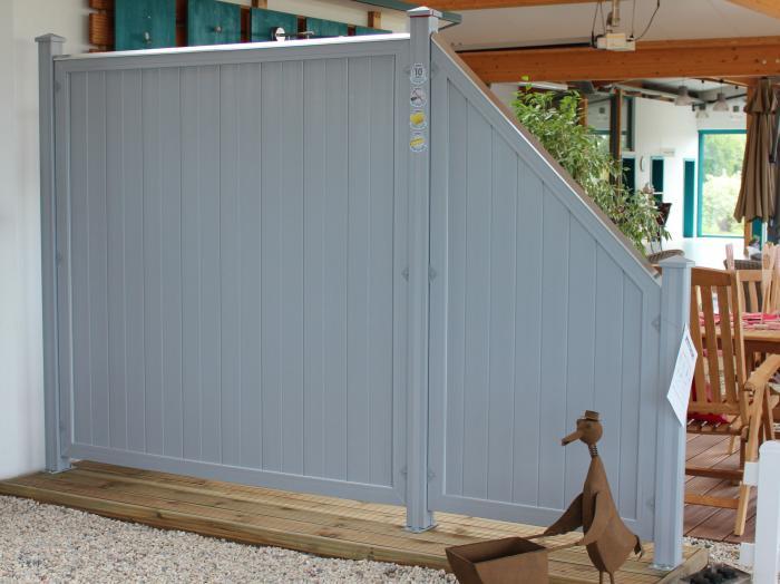 Sichtschutz Kunststoff Riva :  Kunststoff Grau  Sichtschutzzaun Longlife Riva Weiss Sichtschutz Zaun