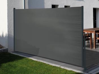 Traumgarten Seitenmarkise grau Basic 4291